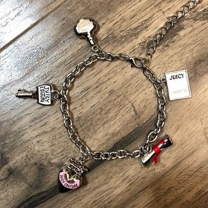 Juicy Couture Silver Tone Charm Bracelet